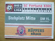 TICKEY- DIE BUNDES LIGA- SC Fortuna Koln, 1998/99 Saison