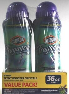 1 Fraganzia In Wash Scent Booster Crystals 2 Pack Lavender Eucalyptus 36oz