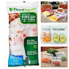 New listing FoodSaver 1-Quart Zipper Vacuum Seal Bags for Food Preservation 18-Count