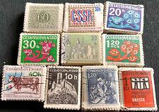 Tchécoslovaquie X 1000 timbres, 10 Faisceaux bundleware #H51