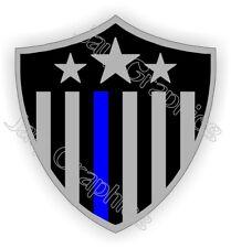 American Flag Usa Police Shield Hard Hat Sticker Thin Blue Line Helmet Decal