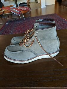 Red wing classic moc 11.5 sage roughout