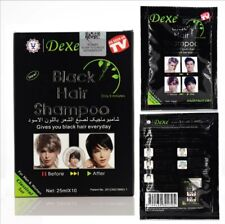 10 Pcs Dexe Fast Black Hair Shampoo Only 5 Minutes White Become Black Hair Color