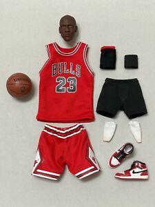 1:6 NBA Chicago Bulls Michael Jordan Head Sculpt,Jersey,Shoes & Accessories Set