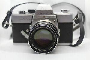 Minolta Rokkor-PF MC 1:17 55mm Lens Clean Glass EX & w/ SRT101 Body Parts/Repair