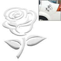 Aufkleber Sticker Silber Chrom 3D Emblem ROSE Blume Auto Motorrad styling Logo