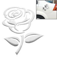 Aufkleber Sticker Silber Chrom 3D Emblem ROSE Blume Auto Motorrad styling