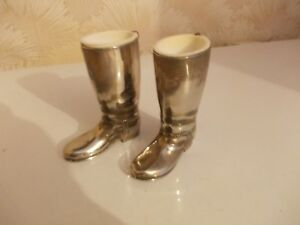 VINTAGE c1970s UNMARKED RIDING BOOTS SPIRIT MEASURES?ORNAMENTS, SILVER PLATED?