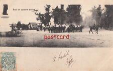 c1906? FRANCE Ecole de cavalerie d'Autan, horse calvary, old bicycle town square