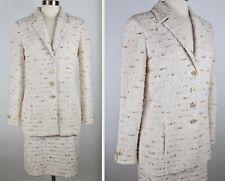 New sz 8 St John Couture 2-piece suit knit jacket skirt soft knit tweed beige
