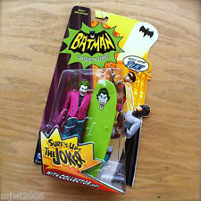 BATMAN Classic TV Series THE JOKER Action Figure SURF'S UP Collector Card Mattel