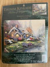 Thomas Kinkade Everett's Cottage Counted Cross Stitch Kit # 51164 NIP 14x11