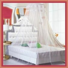Bedroom Bed Canopy Round Lace Curtain Netting Mosquito Net Princess Dome Netting