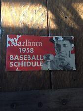1958 Marlboro Baseball Guide. Great Condition!