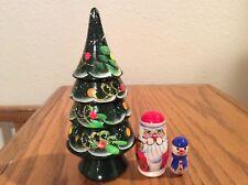 Russian Nesting Dolls Christmas Trees Beauiful Set, 3 pcs Christmas Gift