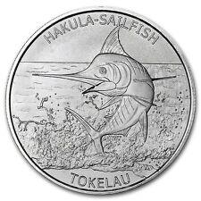1 Unze Silber Tokelau 5 Dollars 2016 Hakula Sailfish (Segelfisch) BU