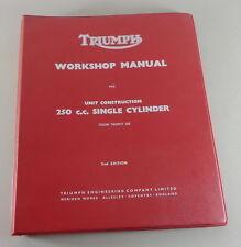 Werkstatthandbuch / Workshop Manual Triumph Trophy 250 TR25W Einzylinder