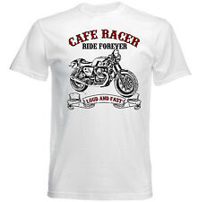 Vintage italienische Motorrad Moto Guzzi Cafe Racer V7-NEU Baumwolle T-Shirt