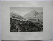 Kaiser Jäger Schiesstätte Isel Tirol Österreich Orig Stahlstich 1840