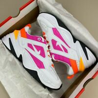 NIKE WOMENS M2K TEKNO PINK WHITE ORANGE UK4.5 AO3108-104 TRAINERS