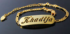 KHADIJA - Bracelet With Name - 18ct Yellow Gold Plated - Gifts For Her - Fashion