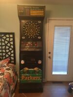 Coin Op Full Size Dart Board Green Bay Packers Rare