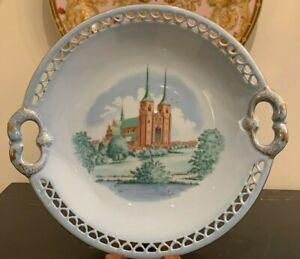 Bing & Grondahl Porcelain BIG36 Denmark Historical Building Cake Plate