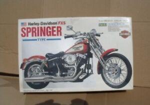 IMEX 1:12 Harley Davidson FXS Springer Type Plastic Model Kit - New Sealed Box