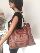 B Makowsky Bag Leather Designer Fashion Brown Purse Gift Women Chic