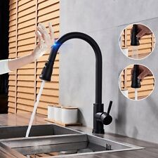 Touch Induction Oil Rubbed Bronze Kitchen Sink Faucet Swivel Pull Out Spray Tap