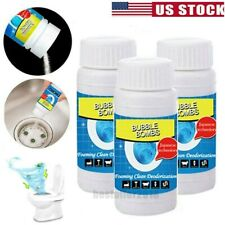 3Pack Fast Foaming Toilet Cleaner Dredge Powder Bubble Bombs Kitchen Cleaning US