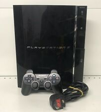 Sony Playstation 3 PS3 Fat 60 Go Noir Console Set Up-Testé/de travail-CECHC 03...