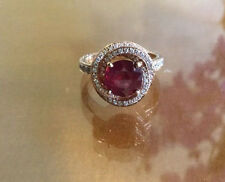 Stunning unique custom ruby diamond ring 18k rose gold 6.5