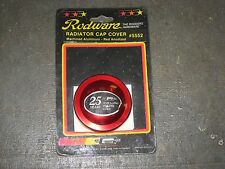 MR GASKET #5552 RED ANODIZED MACHINED ALUMINUM RADITOR CAP COVER