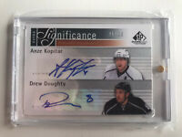 2011 - 2012 SP Game Used ANZE KOPITAR / DREW DOUGHTY EXTRA SIGNIFICANCE # / 25