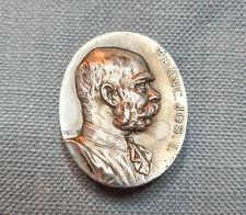 More details for antique 1908 silver medal franz joseph i officers corps medallion austria brooch