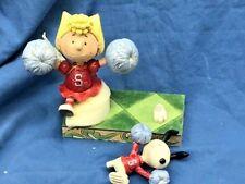 Jim Shore Peanuts 4054083 Spirit Squad Cheerleading Sally & Snoopy Broken