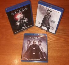 Lot of 3 BLADE Blu-ray US import region a free abc(Wesley Snipes, action/horror)
