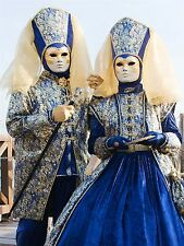PHOTOGRAPHY CULTURE MASKED FIGURES VENETIAN MASK CARNIVAL POSTER PRINT BMP10791