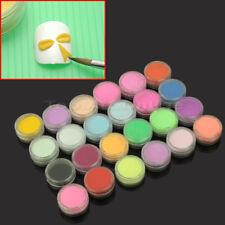 24 Colors Acrylic Nail Art Tips UV Gel Powder Dust Design Decoration 3D Manicure