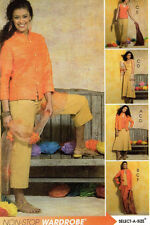 McCalls 5143*Mandarin CollarJacket-Flared Skirt-Top-Pants Suit Pattern*6-12*FF