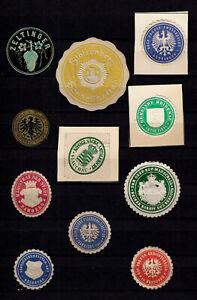 4105/ Lot Siegelmarken – kreuz und quer durch Ämter und Firmen – siehe scan
