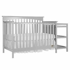 Dream On Me Chloe 5 in 1 Convertible Crib with Changer in Gray
