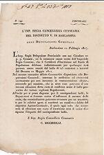 DOCUMENTO BARLASSINA MONZA BRIANZA 1817 ISCRIZIONE A RUOLO DI POPOLAZIONE 4-148
