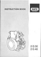 HATZ DIESEL ENGINE 2G30 2G40 OPERATORS MANUAL - 2 G 30 40