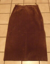 """LEATHER SKIRT BROWN SIZE 10  X 35"""" LENGTH 100% LEATHER"""