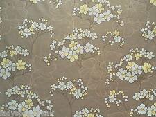 Villa Nova Curtain Fabric HYDRANGEA 7.2m Mocha/Primrose/Blue Modern Floral 720cm