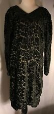 Vintage Black And Nude Velvet Dress With Black Buttons Fits Like A Medium-Large