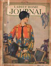 1928 Ladies Home Journal September - Mary Garden; N C Wyeth; Henry Ford; B Burke
