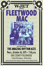 Fleetwood Mac 1975 Concert Poster, Erie County Fieldhouse, Erie, PA
